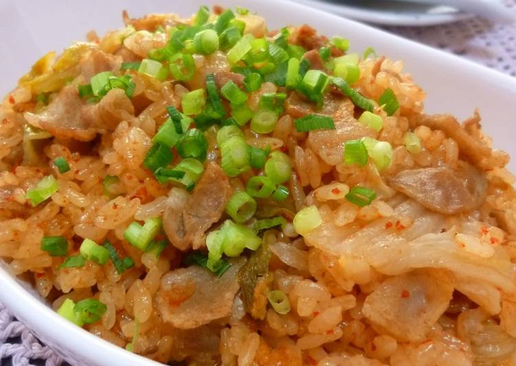 Pork Kimchi Cooked Rice for Parties
