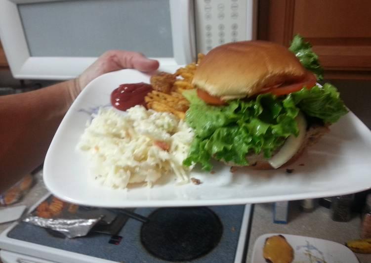 Simple burger, great flavor