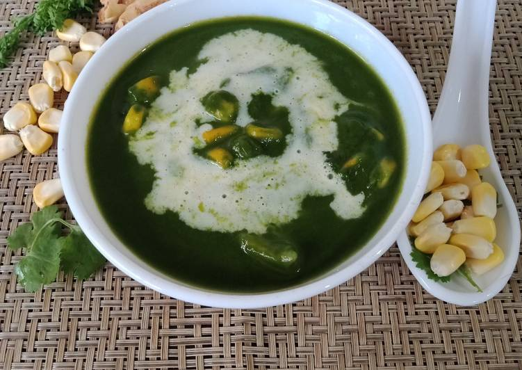 Step-by-Step Guide to Make Homemade Spinach corn soup