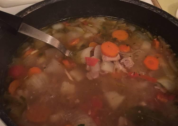 Left-Over Turkey/Vegetable Soup