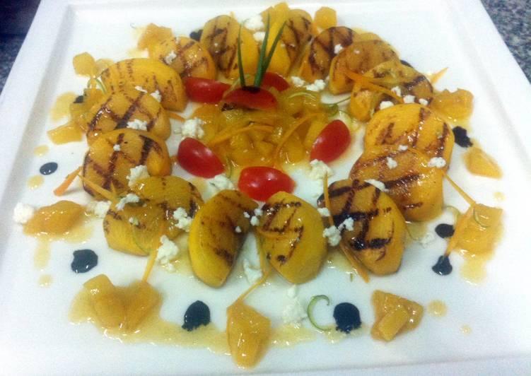 Kanya's Persimmon  Salad With Honey Sauce