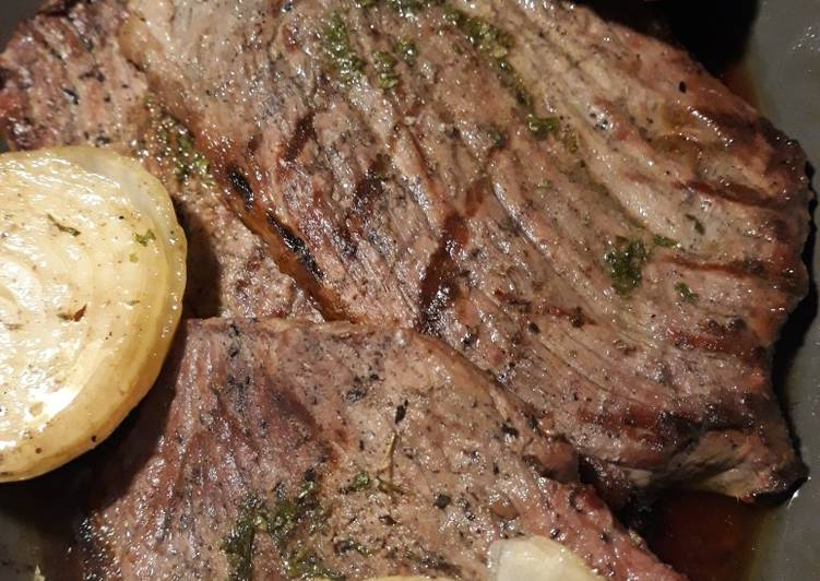 Grilled Steaks with Compound Spread
