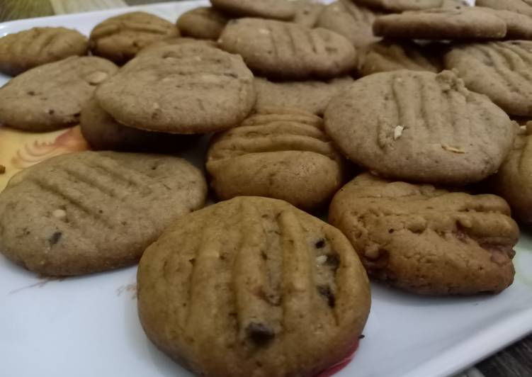 Choco Peanut Cookies No Oven (Teflon)