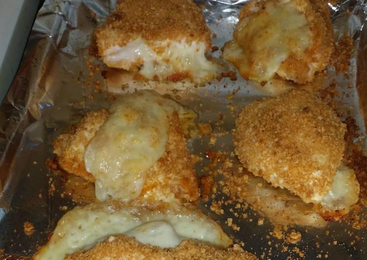Shake n bake chicken and swiss