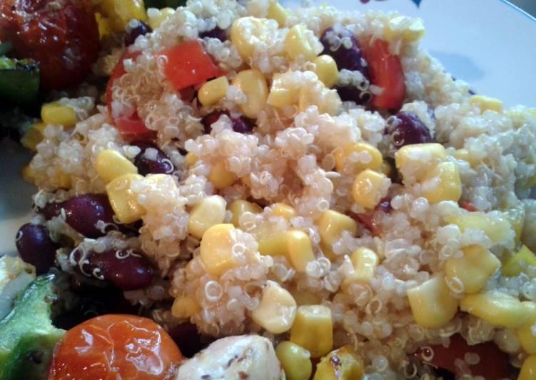 Quinoa, Corn & Bean Salad