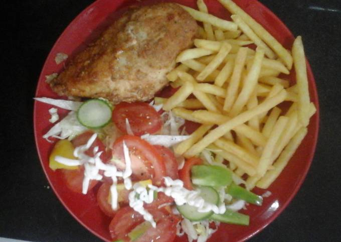 My Fried Chicken and French Fries 😃👍