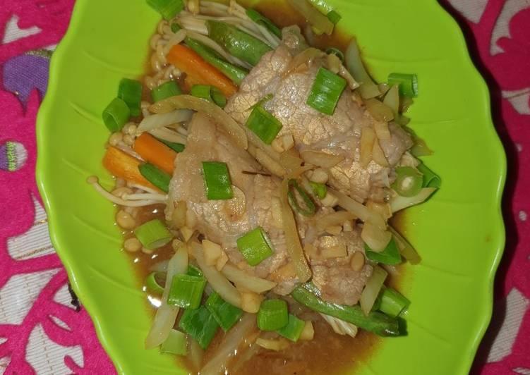 Bulgogi daging sayuran