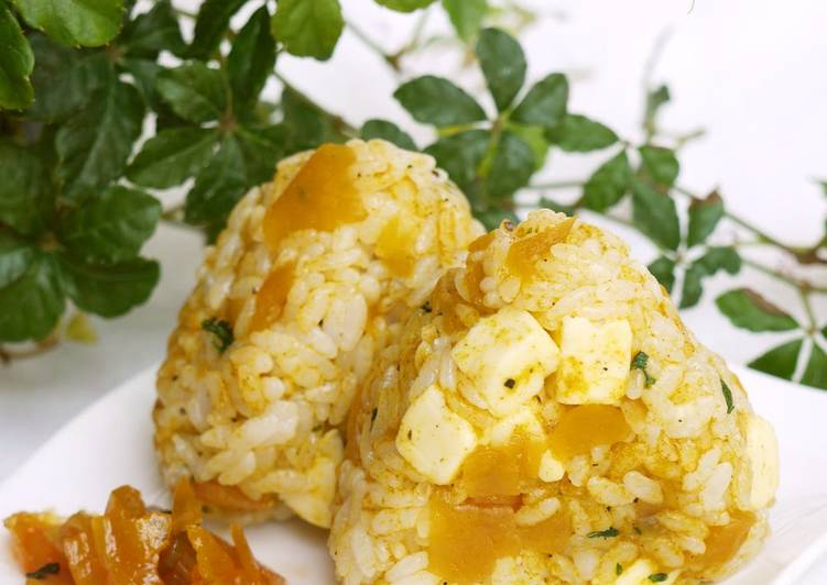 Rice Ball with Curry and Cheese