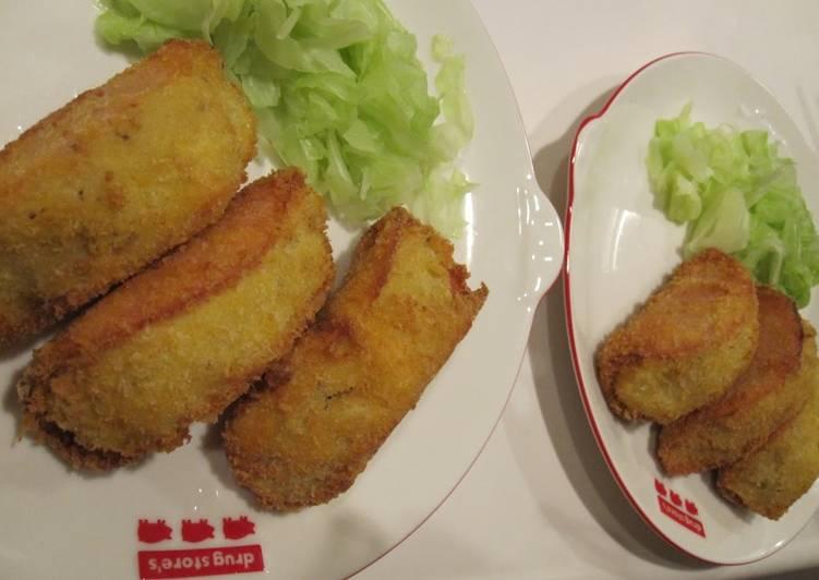 Recipe of Perfect Ham Wrapped Potato Croquettes