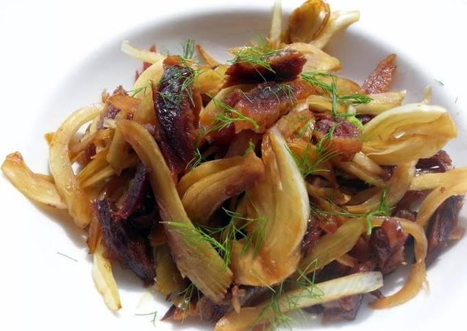 Recipe: Tasty Fennel And Preserved Duck