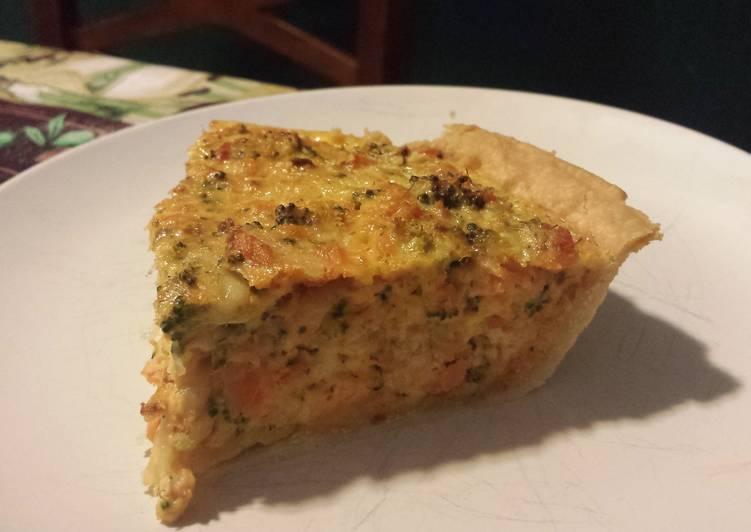 Salmon & Broccoli Quiche