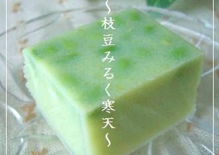 Step-by-Step Guide to Make Perfect Summer Dessert Edamame Milk Kanten