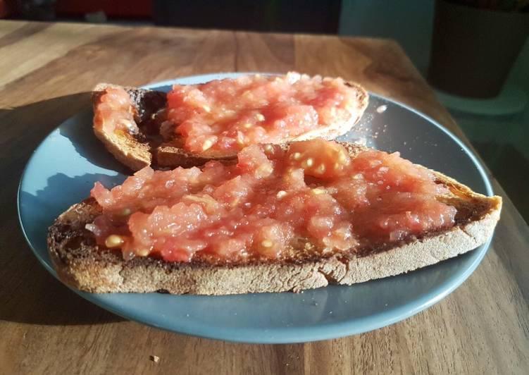 Façon la plus simple Faire Appétissant Pan con tomate