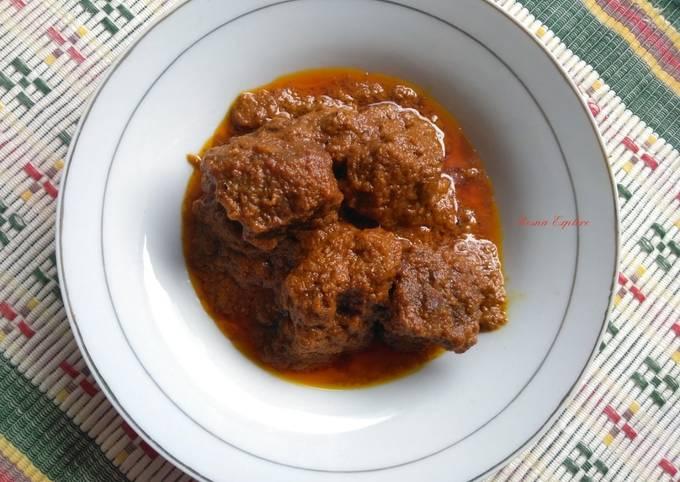 Rendang Daging Sapi Ala Warung Nasi Padang