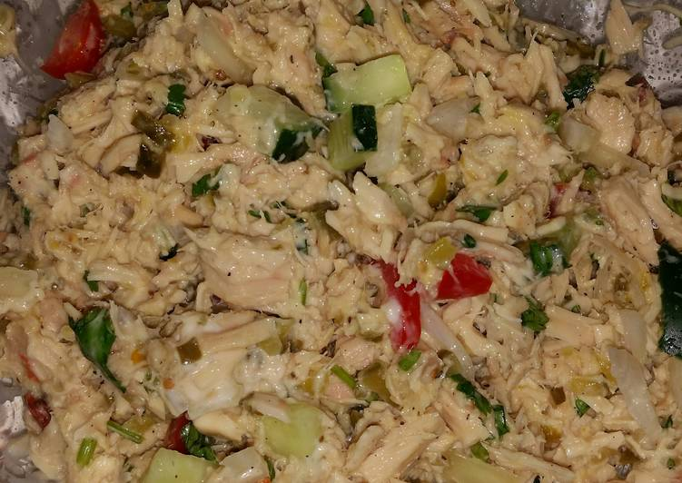Zesty chicken or tuna salad