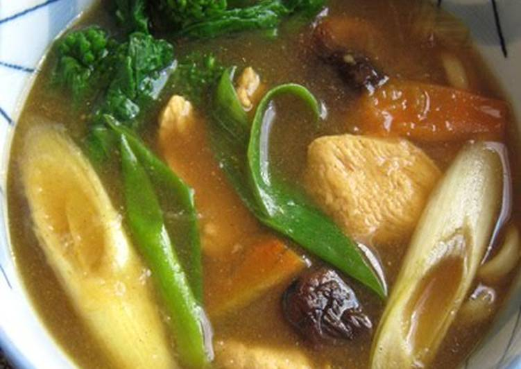Use Food to Boost Your Mood Curry Udon Noodles Thickened with Grated Potato