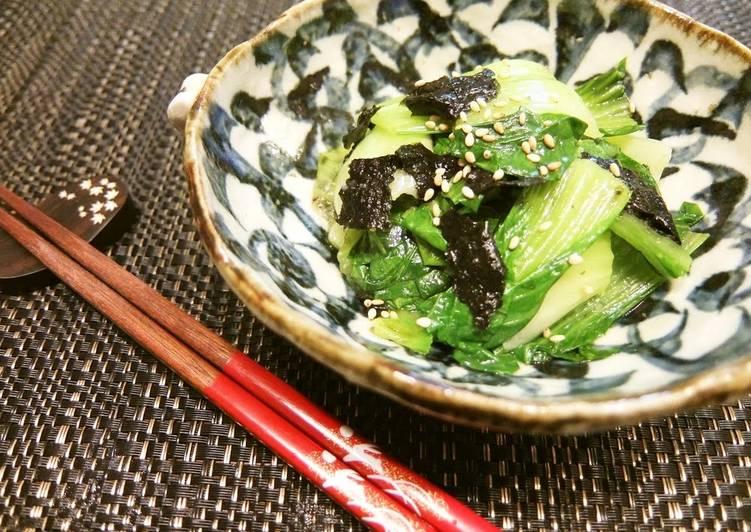 Bok Choy and Nori Seaweed Namul