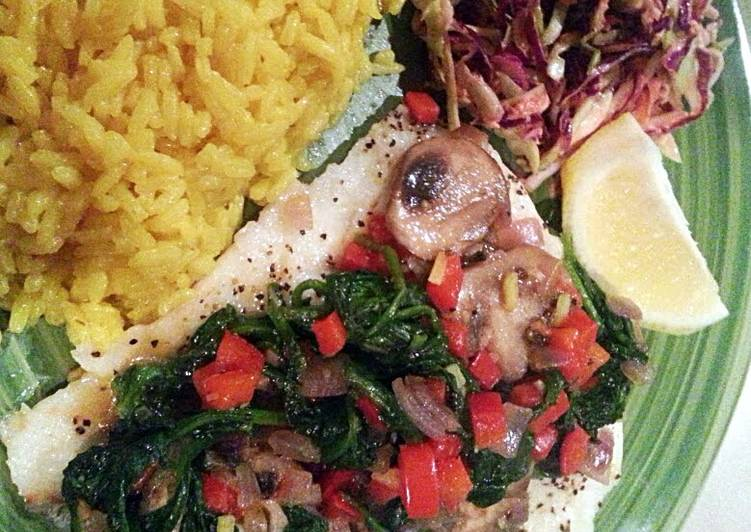 How to Prepare Tasty Baked Cod with a vegetable sautee topping