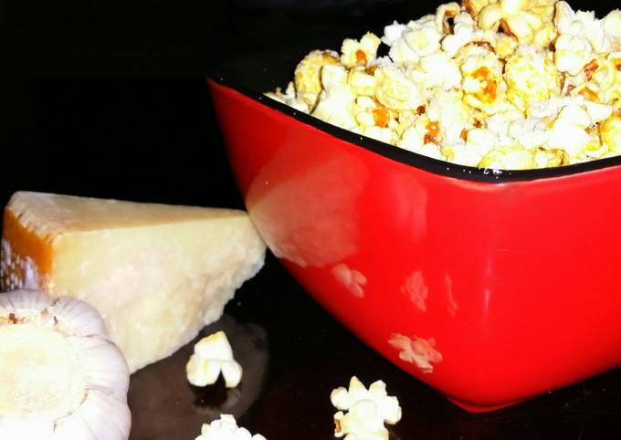 Steps to Prepare Super Quick Homemade Mike's Garlic Parmesan Popcorn