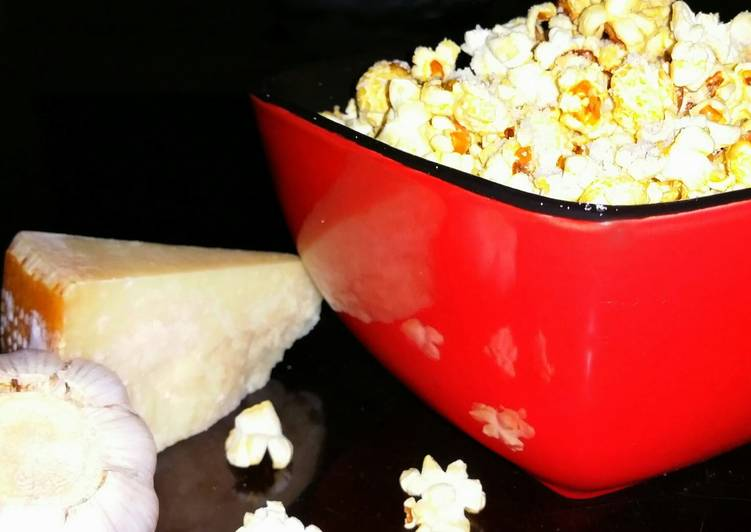 Mike's Garlic Parmesan Popcorn