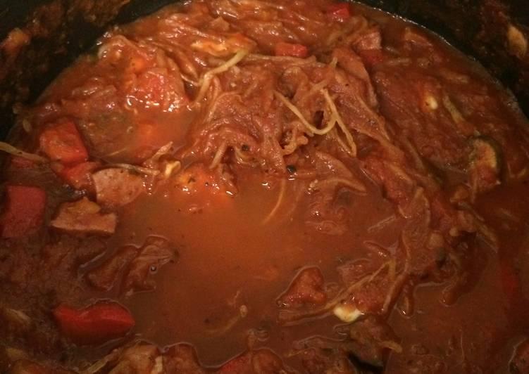 Spaghetti Squash And Garden Tomato Sauce