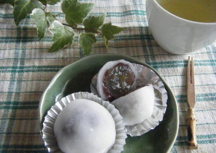 Step-by-Step Guide to Prepare Speedy Easy with the Microwave! Grape Daifuku