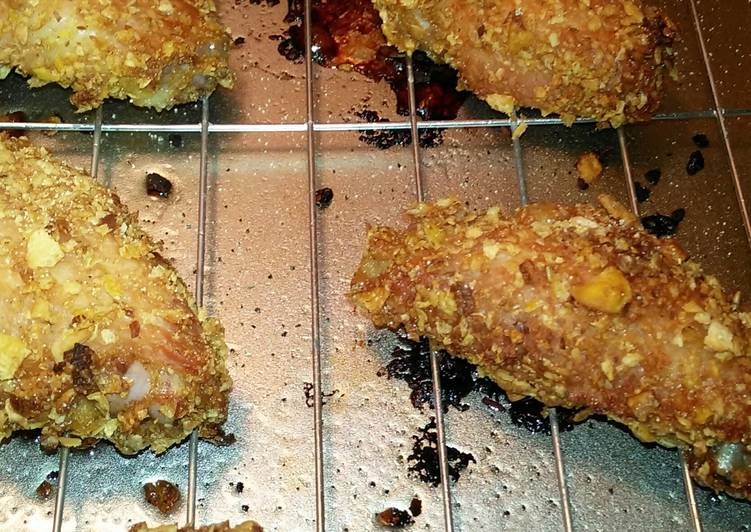 Cereal coated baked chicken