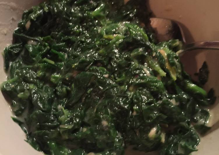 Recipe: Yummy Cream Spinach with Nutmeg