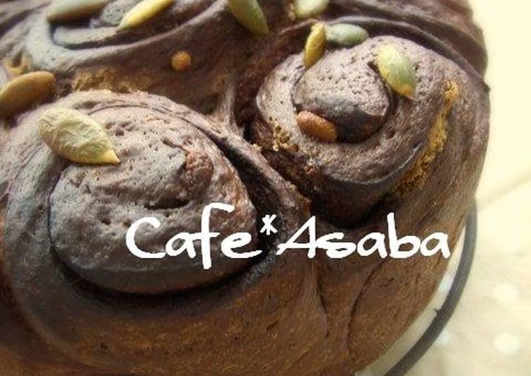 Recipe of Speedy White Chocolate x Cocoa Spiral Bread