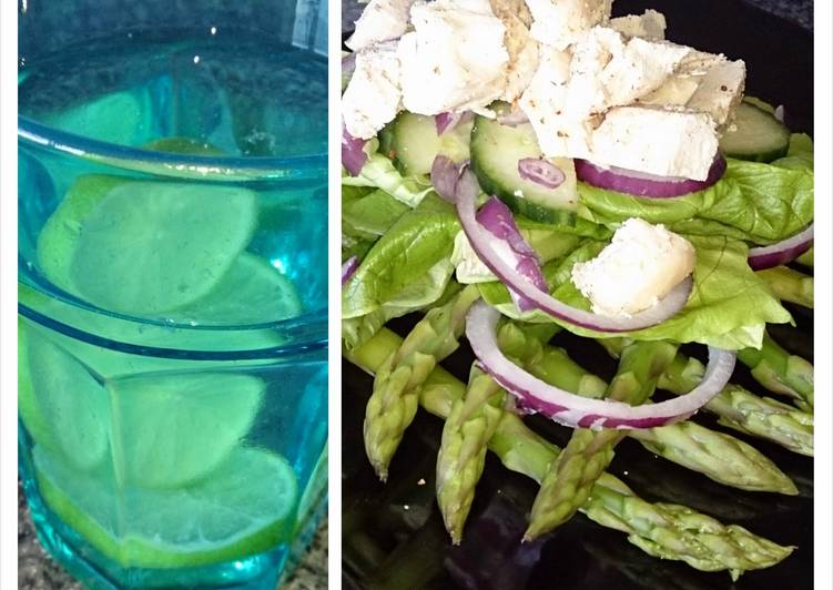 Easiest Way to Make Perfect chicken and asparagus salad, lime water