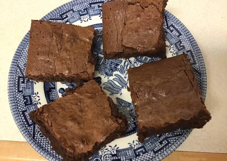 Recipe of Favorite Chocolate brownies #mycookbook