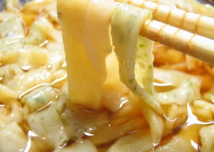 Simple Way to Prepare Quick Tri-color Handmade Okara Udon Noodles