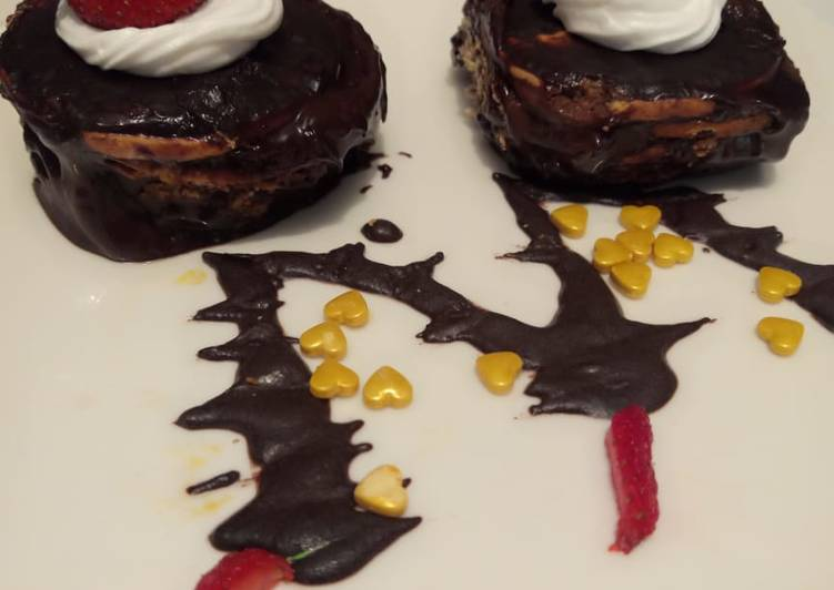 Marie biscuit coffee cake-no bake dessert