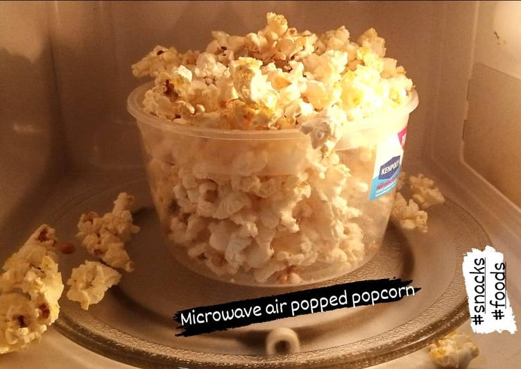 Steps to Make Perfect Microwave popcorn