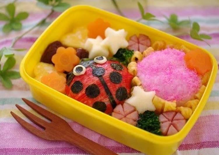 Easiest Way to Prepare Appetizing Ladybug Onigiri Bento