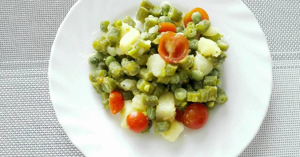 como se prepara ensalada de verduras cocidas