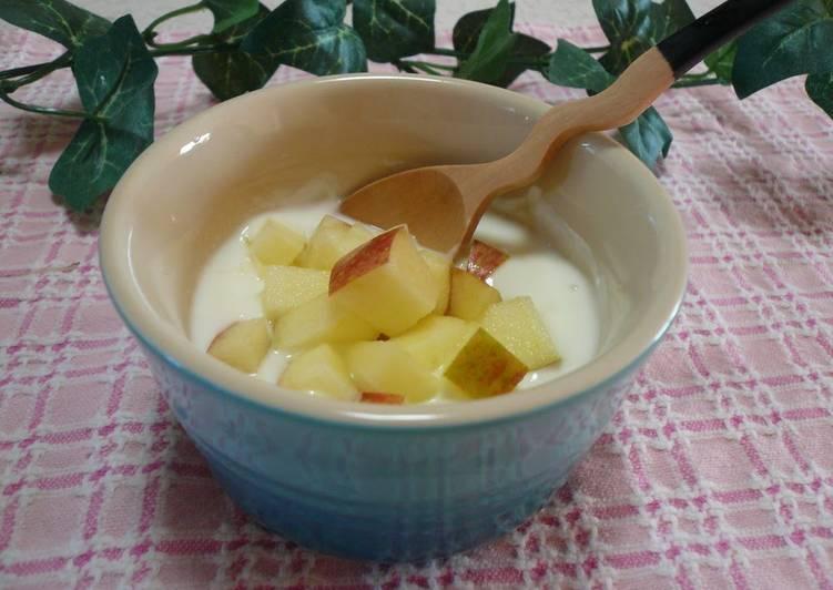 Sugar-free Double Textured Apple Yogurt