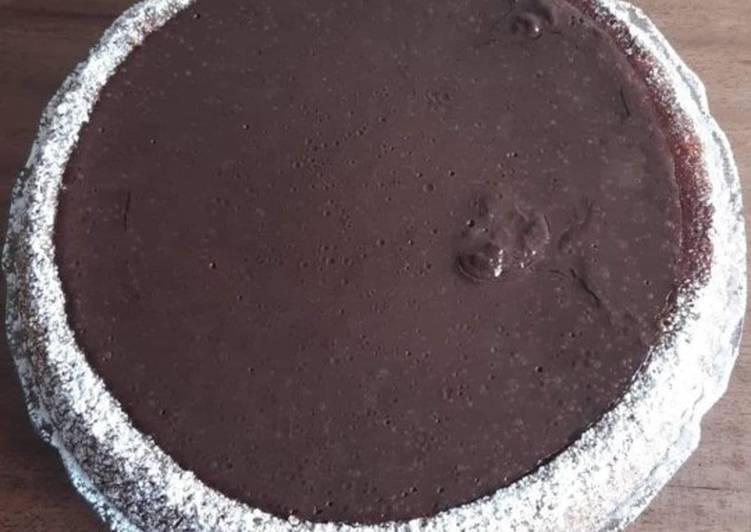 Tarte renverser a la vanille et crème chocolat