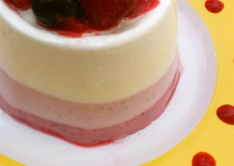How to Prepare Homemade Tricolor Berry Bavarois-Style Cake