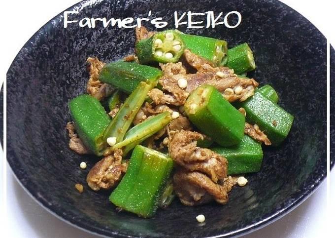 [Farmhouse Recipe] Curry Flavored Okra and Pork Stir Fry