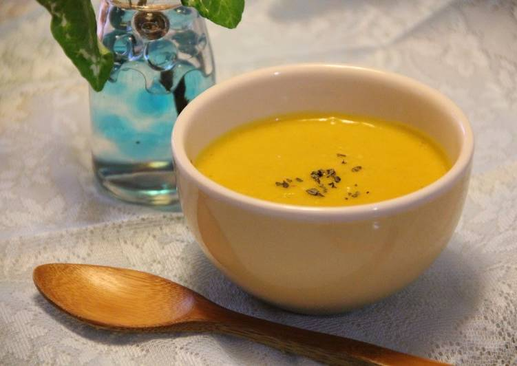 Cold Kabocha Squash Soup for Summer