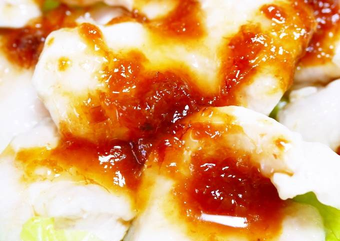 How to Prepare Appetizing Chicken Breast with Umeboshi Plum Bonito Soy Sauce
