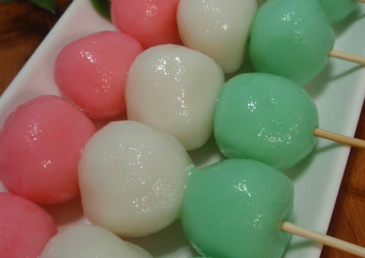 Great for Hanami (Cherry Blossom Viewing) Tri-Colour Dango (Sweet Mochi)