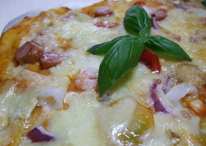 Recipe: Perfect Our Family's Easy Recipe For Pizza To Serve To Guests