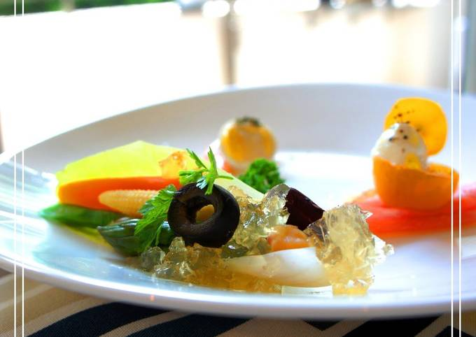 Easiest Way to Make Perfect Early Summer Appetizer Chicory and Vegetable Bouquet