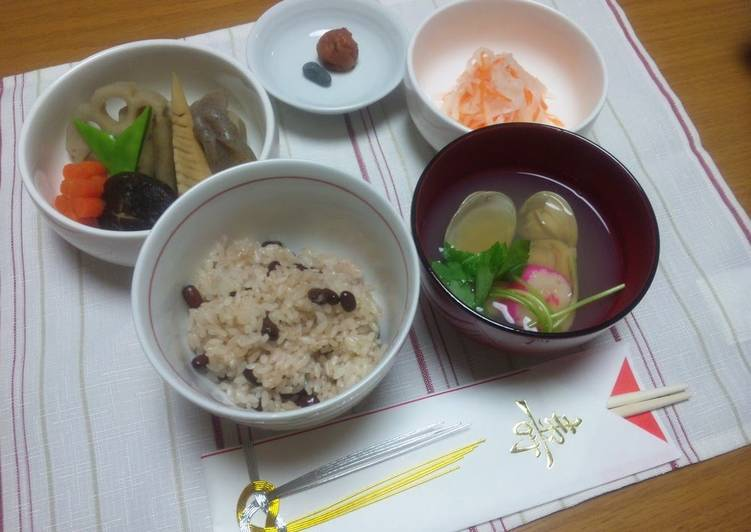 Hamaguri Clam Clear Broth Soup (for your child's first meal celebration)