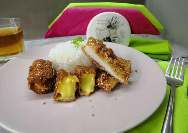 """Glutén- és tejmentes rántott hús és """"sajt"""" recept foto"""