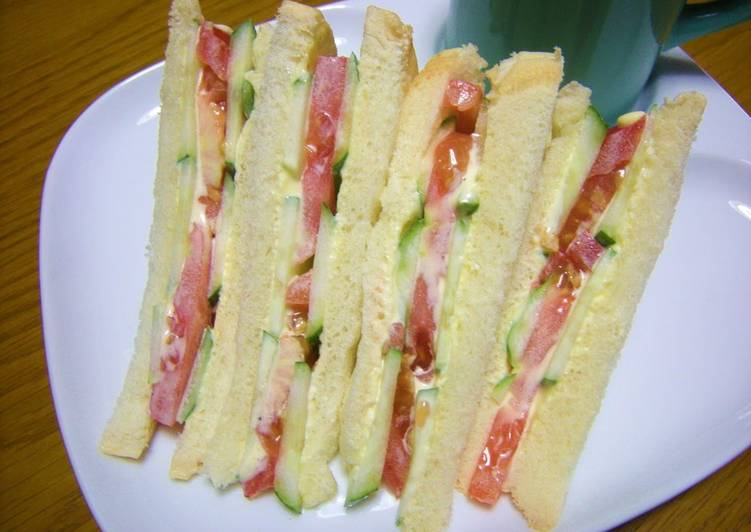 Easiest Way to Make Speedy For Breakfast! Tomato and Cucumber Sandwich
