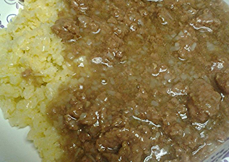 Step-by-Step Guide to Prepare Super Quick Homemade Meat gravy with cauliflower rice
