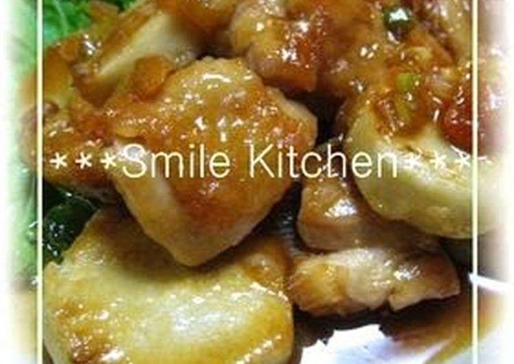 Recipe of Super Quick Homemade Chicken and Taro in Creamy Sauce